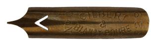 Bandzugfeder, Gilbert & Blanzy-Poure, No. 229-0, Pour la Ronde, Typ 3