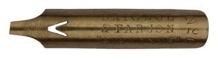 Antike Bandzugfeder, Baignol & Farjon, No. 394-6, 1,9mm, A la Ronde, Typ 2