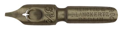 Antike Bandzugfeder, Carl Kuhn & Co, No. 3 1/2, Rundschriftfeder, 1,2mm