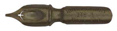 Antike Bandzugfeder, Rundschrift Feder, No. 1