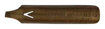 Antike Bandzugfeder, Compagnie Belge, No. 64-4, Floreffe