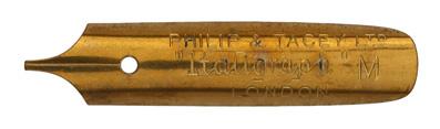 Antike Bandzugfeder, Philip & Tacey Ltd., Italigraph M