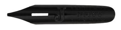 Antike Kalligraphie Bandzugfeder, Perry & Co, No. 135, Black J-Pen