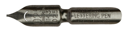Antike Kalligraphie Bandzugfeder, Joseph Gillott, No. 1143-025, Lettering Pen
