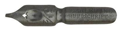 Antike Kalligraphie Bandzugfeder, Carl Kleine, No. 3½, Rundschrift-F