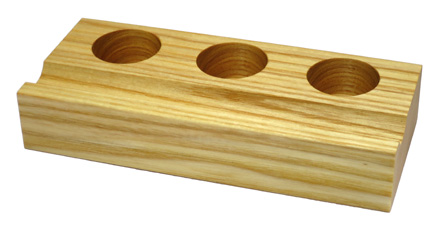 Faßhalter für 3 Tinten, Eschenholz, geölt und gewachst