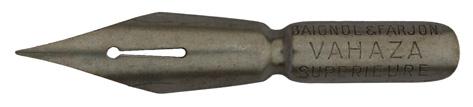 Antike Pfannenfeder, Baignol & Farjon, No. 1129 EF, Vahaza Superieur, Typ 2