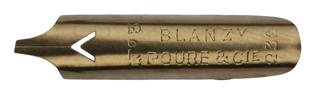 Antike Bandzugfeder, Blanzy-Poure & Cie, No. 232-3, 1,2mm, Typ 1