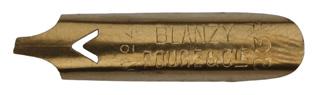 Antike Bandzugfeder, Blanzy-Poure & Cie, No. 233-4, 1,5mm, Typ 1