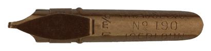 Antike Bandzugfeder, Brause & Co., No. 190, 1mm, mit Aufkante