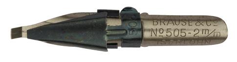 Antike Rechteckplattenfeder, Brause & Co, No. 505, 2mm