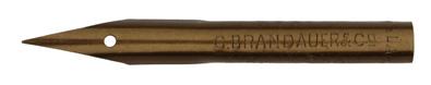 Antike Zeichenfeder, C. Brandauer & Co, No. 311