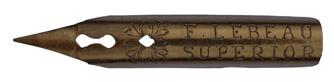 Antike Zeichenfeder, F. Lebeau, Superior