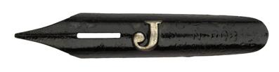 """Antike Kalligraphie Bandzugfeder, Gilbert & Blanzy-Poure, No. 808, """"J"""""""