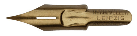 Antike Spitzfeder, Hermann Müller, No. 1180 EF, Flügelfeder, Typ 1