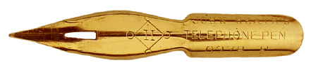 Antike Kalligraphie Spitzfeder, John Heath, No. 0278 F, Telephone Pen