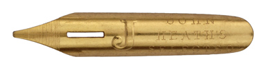 "Bandzugfeder, John Heath, ""J"", Selected, Golden Coated Aristocratic or Professional Pen"