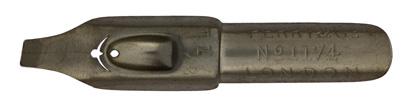Antike Bandzugfeder, Perry & Co, No. 1174-4 1/2, Round Hand Pen