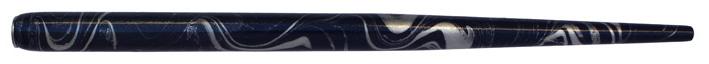 Federhalter mit Globuseinsatz, Dunkelblau / Silber marmoriert