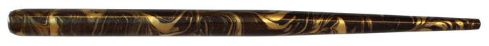 Federhalter, Nussbraun / Gold marmoriert