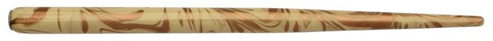 Federhalter mit Globuseinsatz, Elfenbein / Kupfer marmoriert