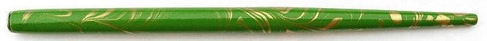 Federhalter, Hellgrün / Gold marmoriert