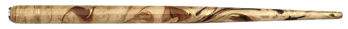 Federhalter mit Globuseinsatz, Natur / Braun / Gold marmoriert