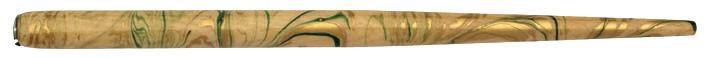 Federhalter, Natur / Gold / Grün marmoriert
