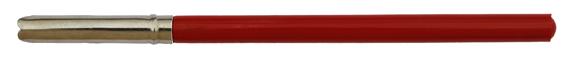 Antiker französischer Federhalter mit Kunststoff-Griff und Metallzwinge, Rot