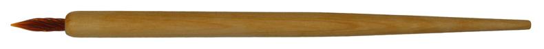 Federhalter Birke natur mit brauner Glasfeder-Spitze