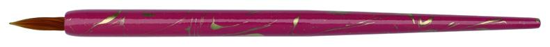 Federhalter pink-gold marmoriert mit brauner Glasfeder-Spitze