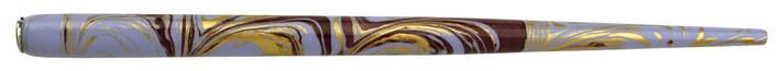 Federhalter mit Globuseinsatz, Lavendel / Lila / Gold marmoriert