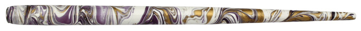 Federhalter mit Globuseinsatz, Weiß / Lila / Gold marmoriert