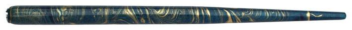 Federhalter mit Globuseinsatz, Türkis / Dunkelblau / Gold marmoriert