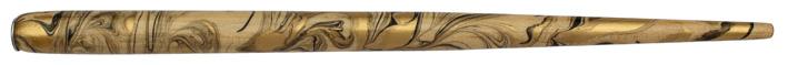 Federhalter, Natur / Gold / Schwarz marmoriert