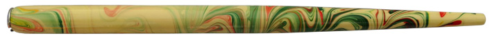 Federhalter mit Globuseinsatz, Elfenbein / Bunt-2 marmoriert