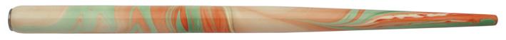 Federhalter mit Globuseinsatz, Pastell / Bunt 4 marmoriert