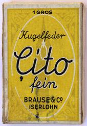 Antike Schreibfederschachtel, Brause & Co