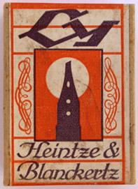 Antike Schreibfederschachtel, Heintze & Blanckertz