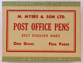 Antike Schreibfederschachtel, M. Myers & Son Ltd.