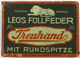 Antike Schreibfederschachtel, Einzelstück, E. W. Leo Nachfolger