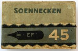 Antike Schreibfederschachtel, Einzelstück, F. Soennecken