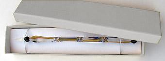 Glasfeder-Geschenk-Schachtel silber