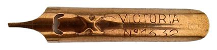 Antike linksgeschrägte Feder, No. 1632 Victoria