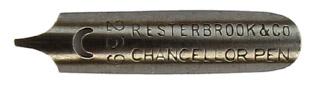 Antike linksgeschrägte Feder, R. Esterbrook & Co, No. 239, Chancellor Pen