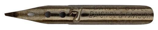 Antike linksgeschrägte Feder, Baignol & Farjon, No. 800-7, Sainte Odile