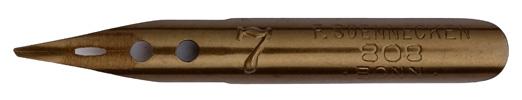 Antike linksgeschrägte Feder, F. Soennecken, No. 808-7, 0,75mm