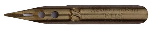 Antike linksgeschrägte Feder, F. Soennecken, No. 808-8, 0,6mm