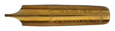 Antike linksgeschrägte Feder, M. Myers & Son, No. 484, Renown