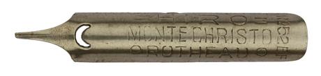 Antike linksgeschrägte Feder, Hiro, No. 52 EF, Monte Christo, Rotheau